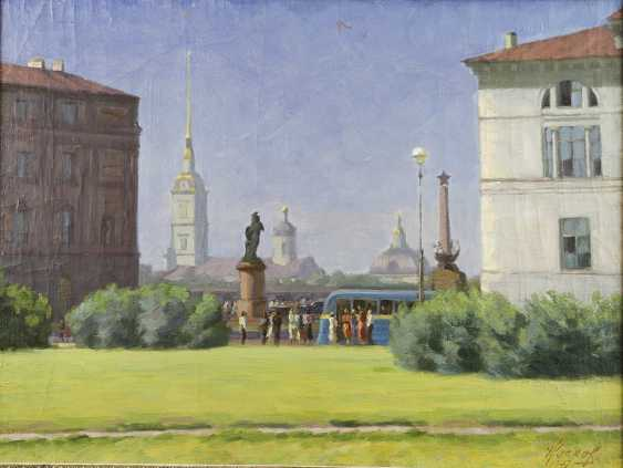 """""""View of the Peter and Paul fortress in summer"""". Socks 1947 - photo 2"""