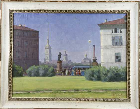 """""""View of the Peter and Paul fortress in summer"""". Socks 1947 - photo 1"""