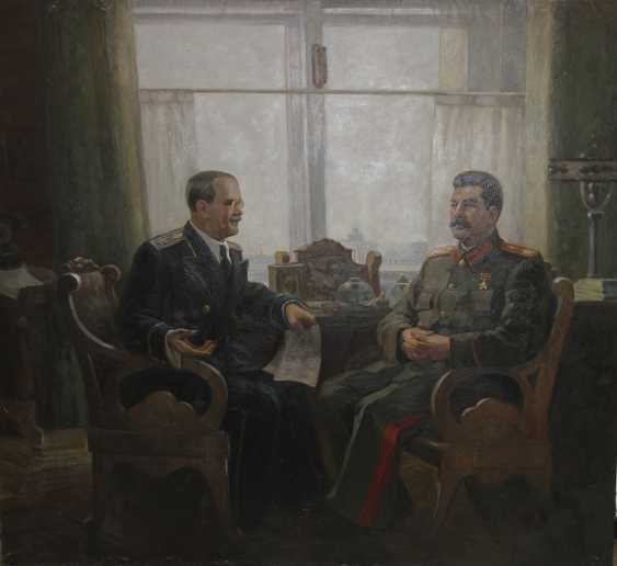 """Molotov at a reception at Stalin."" S. Solodovnik - photo 1"