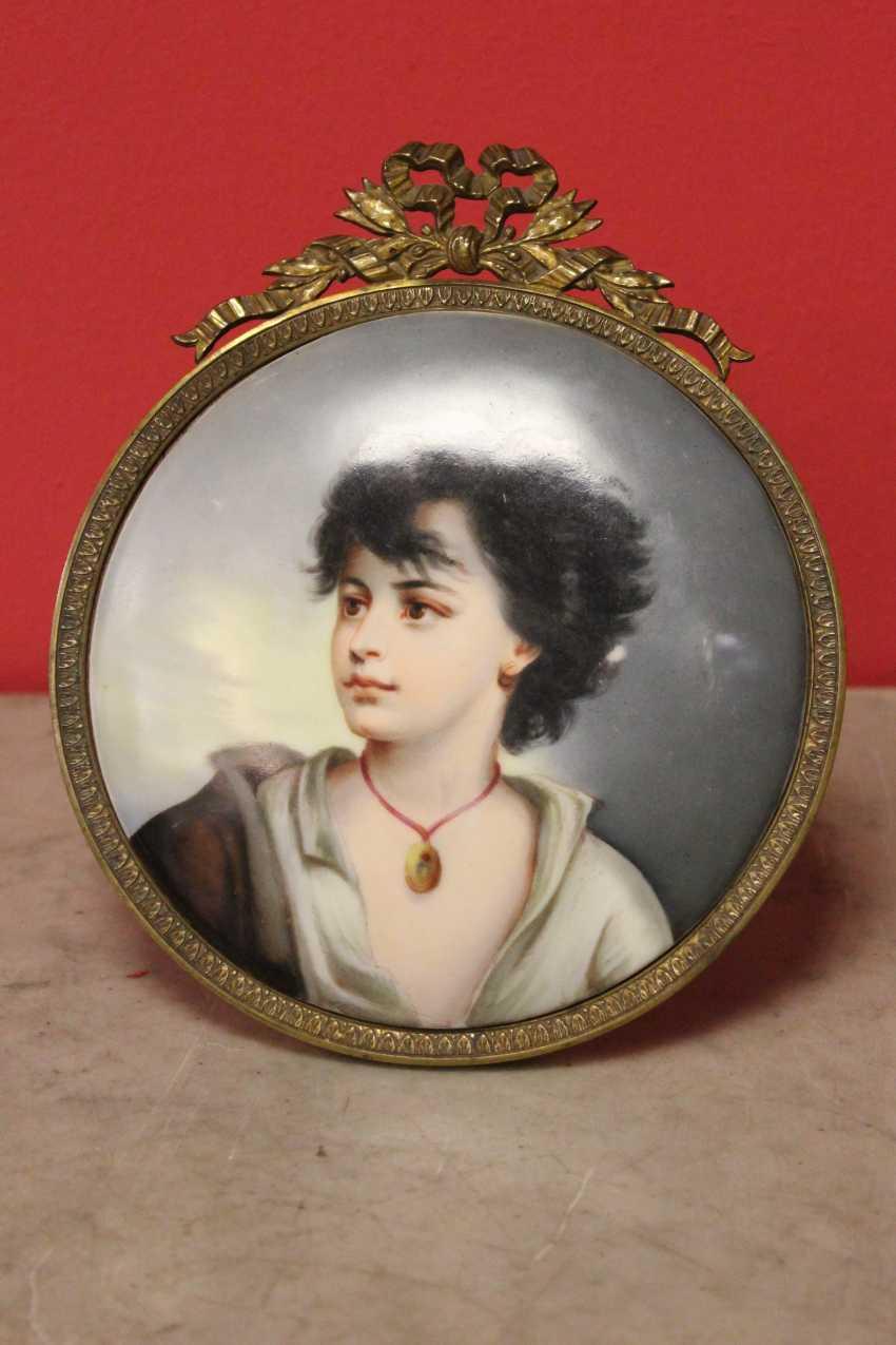 Porcelain miniature-picture, XIX century - photo 1