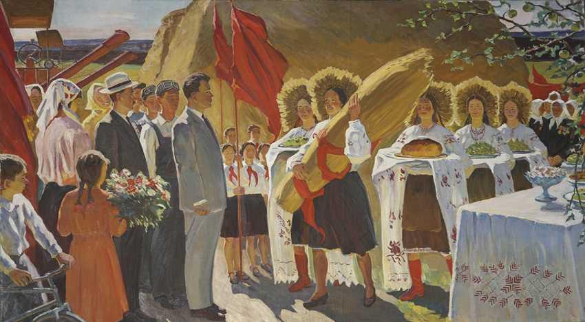 """Harvest festival"". 1974, H. Tomenko - photo 1"