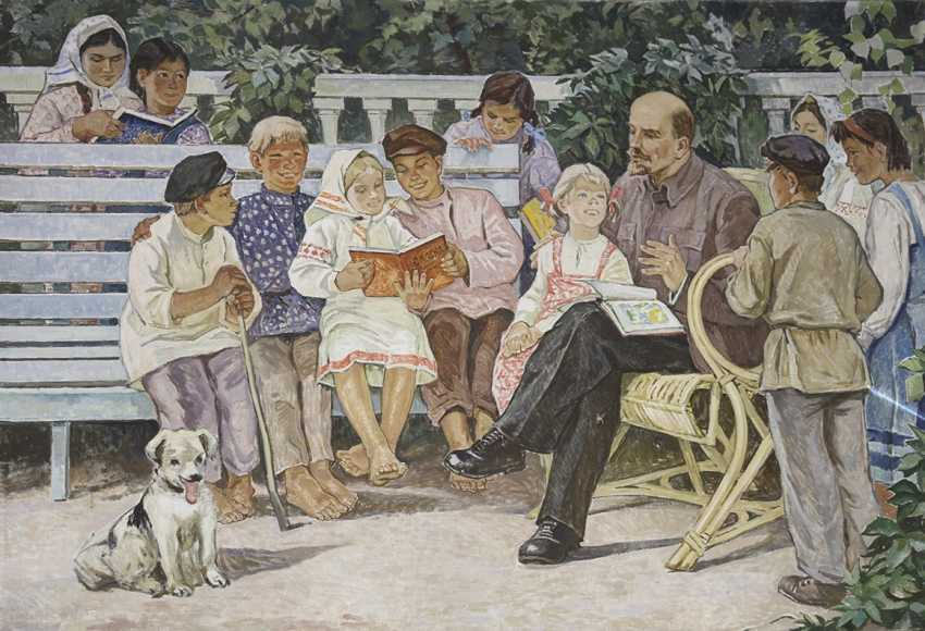"""Lenin read stories to the children."" Safargalin A., 1967 - photo 1"