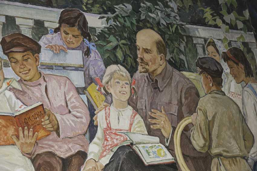 """Lenin read stories to the children."" Safargalin A., 1967 - photo 2"