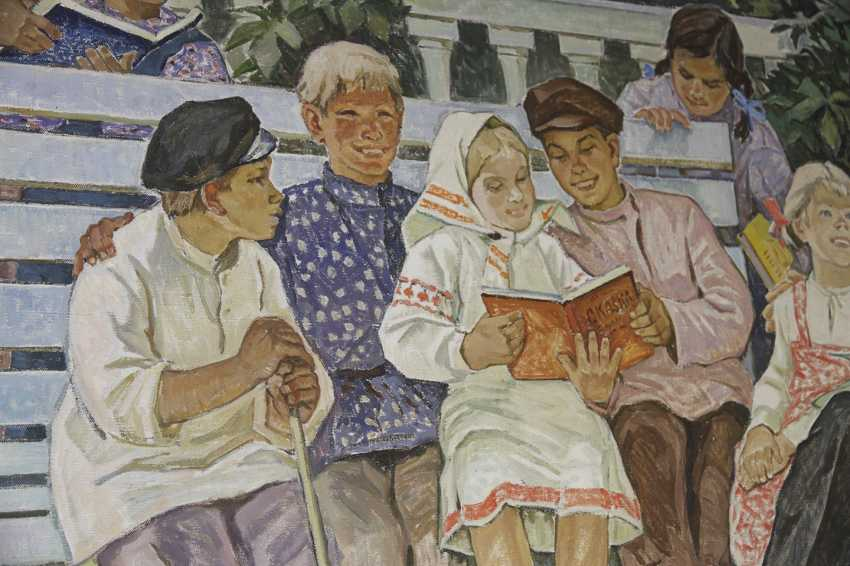 """Lenin read stories to the children."" Safargalin A., 1967 - photo 4"