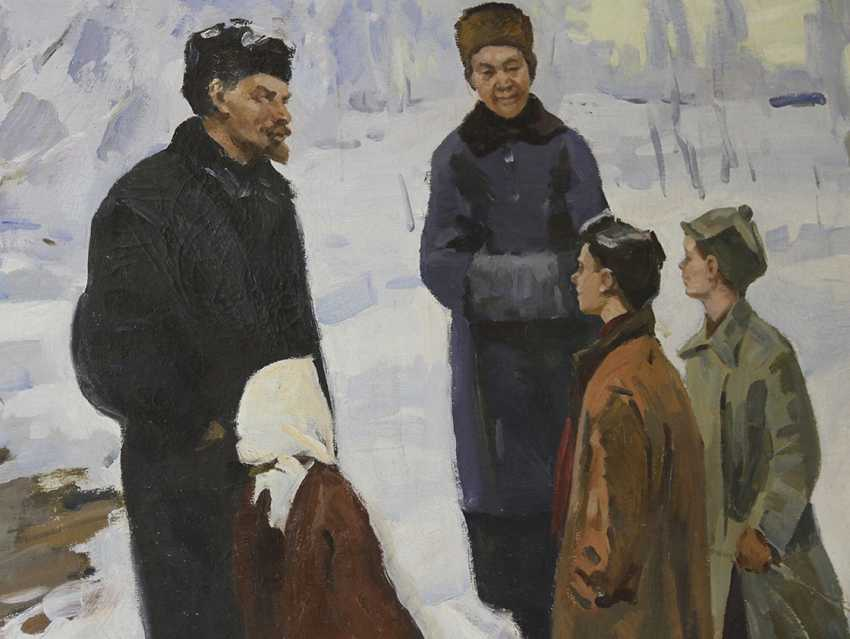 """Lenin and Krupskaya with children"", 1971, V. Lozovoy - photo 2"