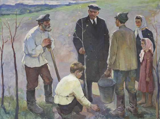 """Lenin planting a tree"". Nasedkin - photo 1"