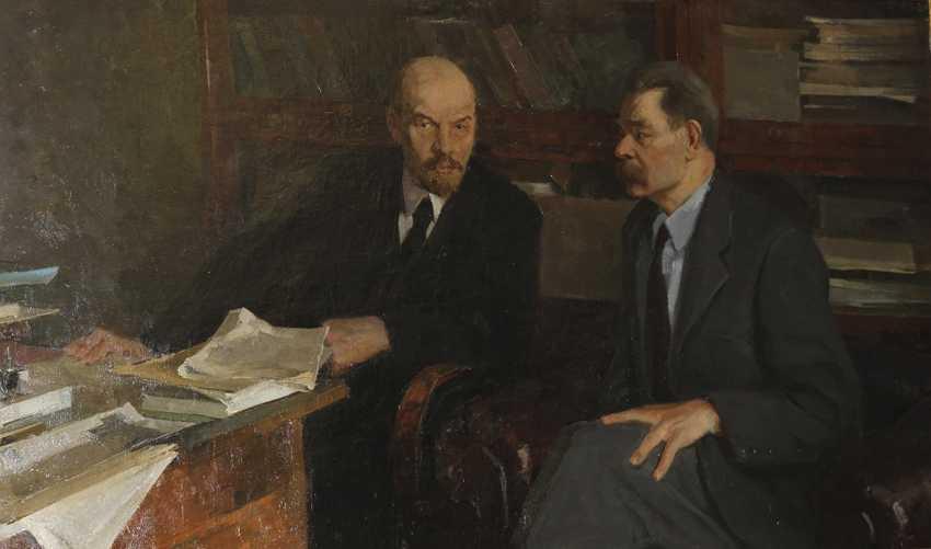 """Lenin and Gorky"". N. Mikheev, 1961 - photo 1"