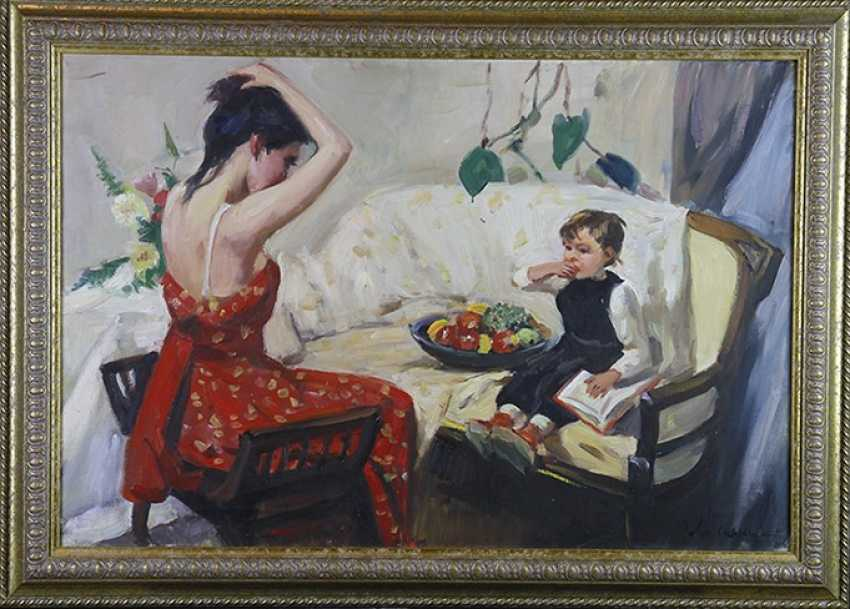 """""""A young mother in toilet"""", O. Lomakin - photo 1"""