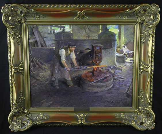 """""""In the smithy"""". August Hessl - photo 2"""