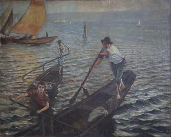 """""""Gondolieri in Venedig"""". Ettore Tito - Foto 1"""