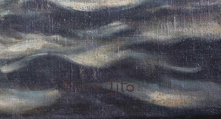 """Gondoliers à Venise"". Ettore Tito - photo 2"