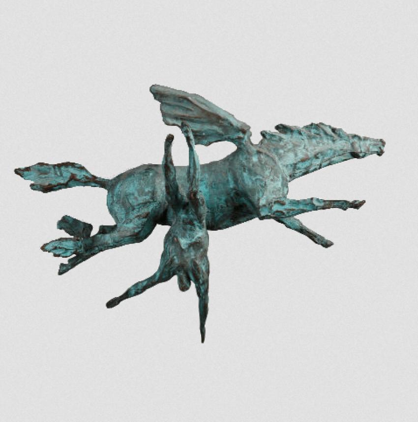 """Leonid Artamonow """"Fallen mit Pegasus"""" - Foto 1"""