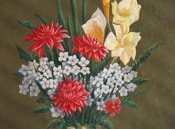 """Still life with red asters."" Western Europe, 1920s - photo 2"