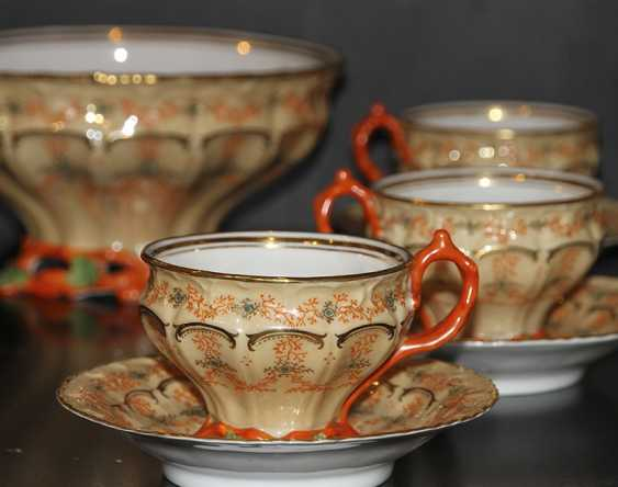 Tea set for 6 persons with a coral decor. Z-d Br. Kornilov - photo 2