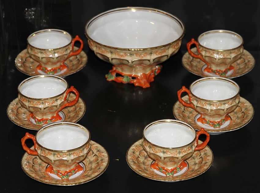 Tea set for 6 persons with a coral decor. Z-d Br. Kornilov - photo 4