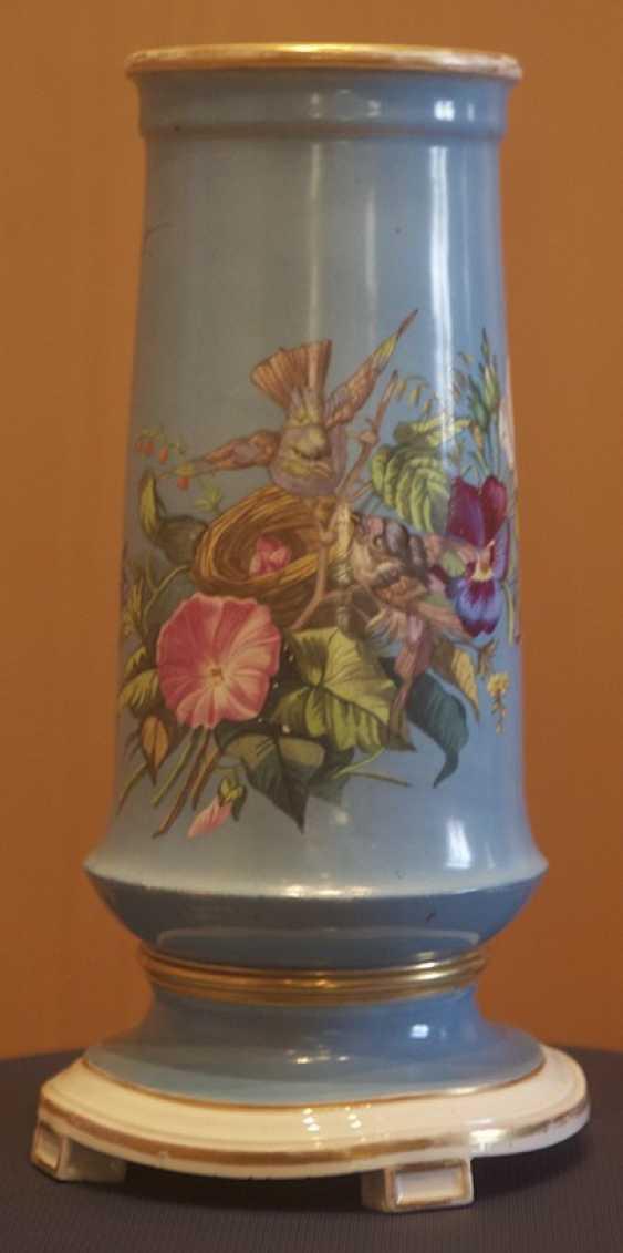 Ваза с цветочным декором. Императорский фарфоровый з-д - фото 1
