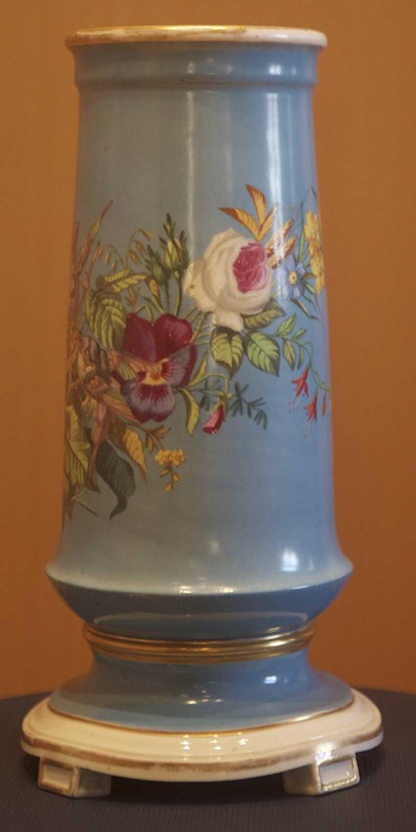 Ваза с цветочным декором. Императорский фарфоровый з-д - фото 2