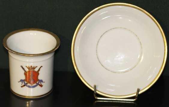 2 tasses avec soucoupe avec le blason Impérial de porcelaine zd - photo 1