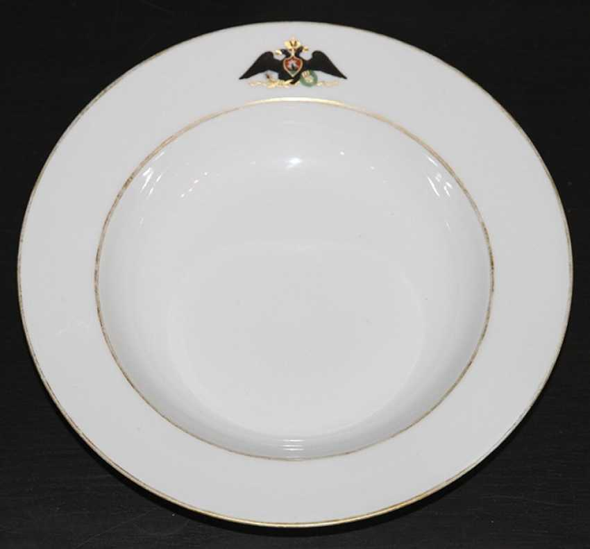 The eagle plate from the service for the Palace in Gatchina. IPE - photo 1