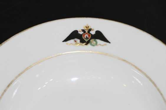 The eagle plate from the service for the Palace in Gatchina. IPE - photo 2