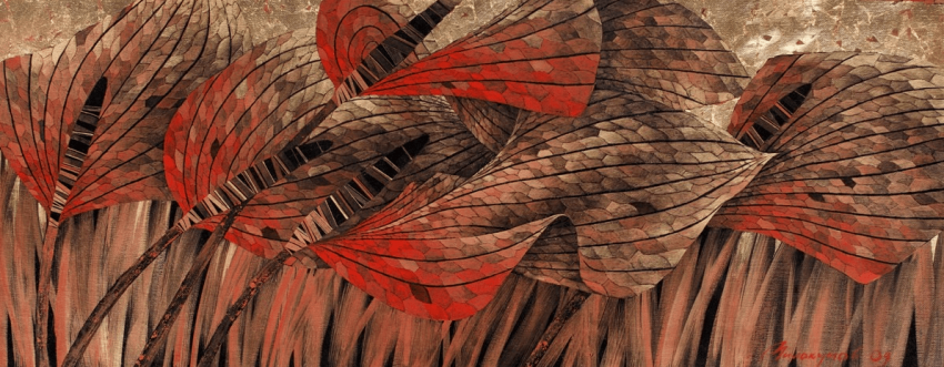 "Sergey Milokumov ""Flight of the red dragonfly"" (triptych) - photo 1"