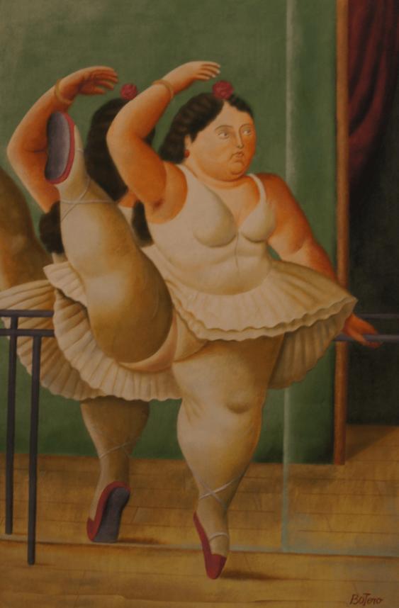 """Fernando Botero's """"Girl in tutu"""" - photo 1"""