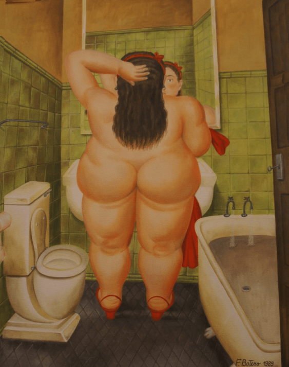 "Fernando Botero ""in the Morning in the bathroom"" - photo 1"