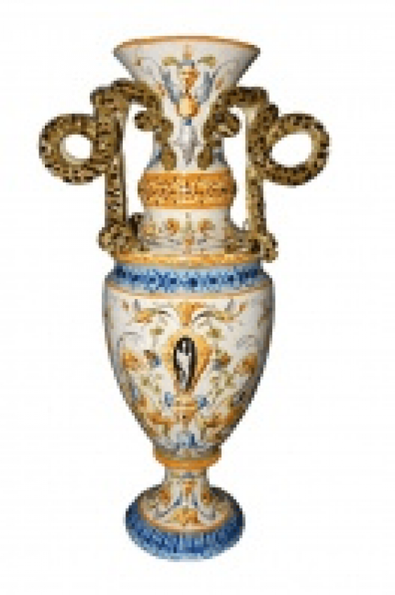 Vase Italy Faience 19/20 century - photo 1
