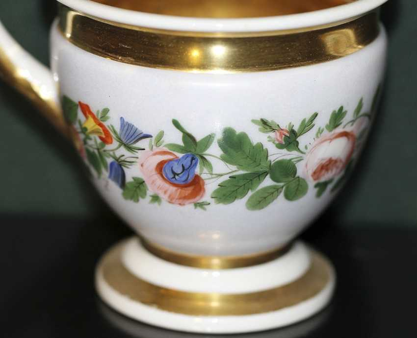 Cup and saucer with floral decoration. Russia, no postage. - photo 3