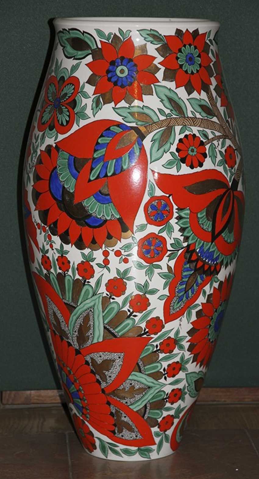 Vase with red flowers. LFZ 1959, A. Vorob - photo 1