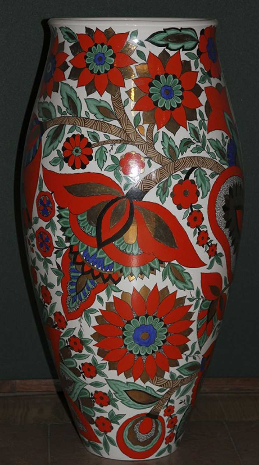 Vase with red flowers. LFZ 1959, A. Vorob - photo 2
