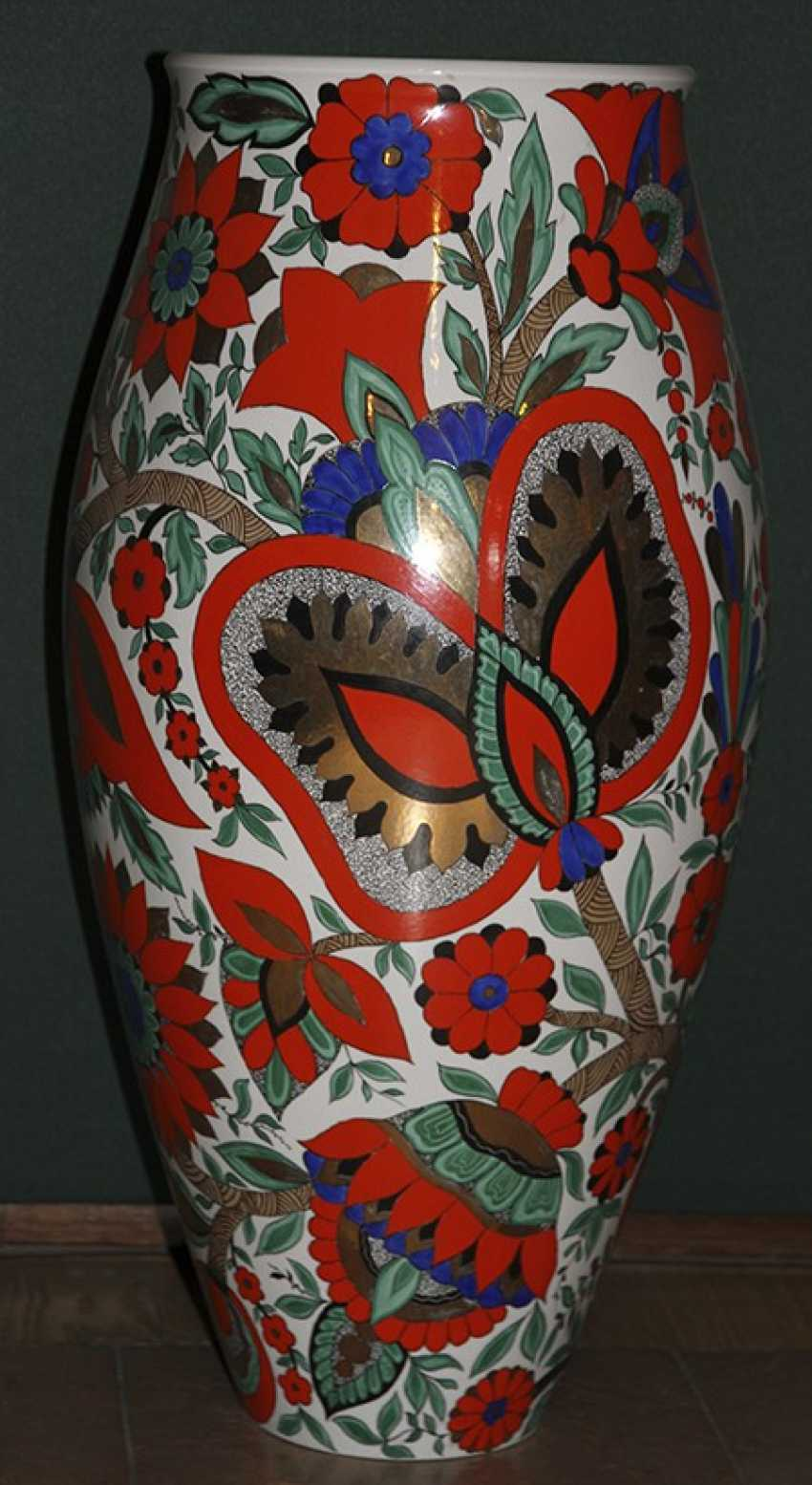 Vase with red flowers. LFZ 1959, A. Vorob - photo 3