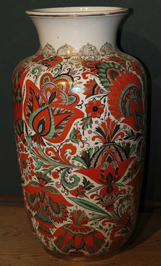 Vase c de fleurs rouges. ЛФЗ 1955, A. Воробьевский - photo 2