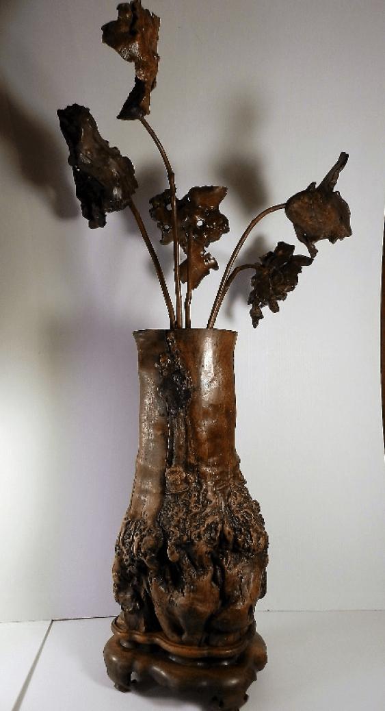Wooden vase Japan, 19th century - photo 1