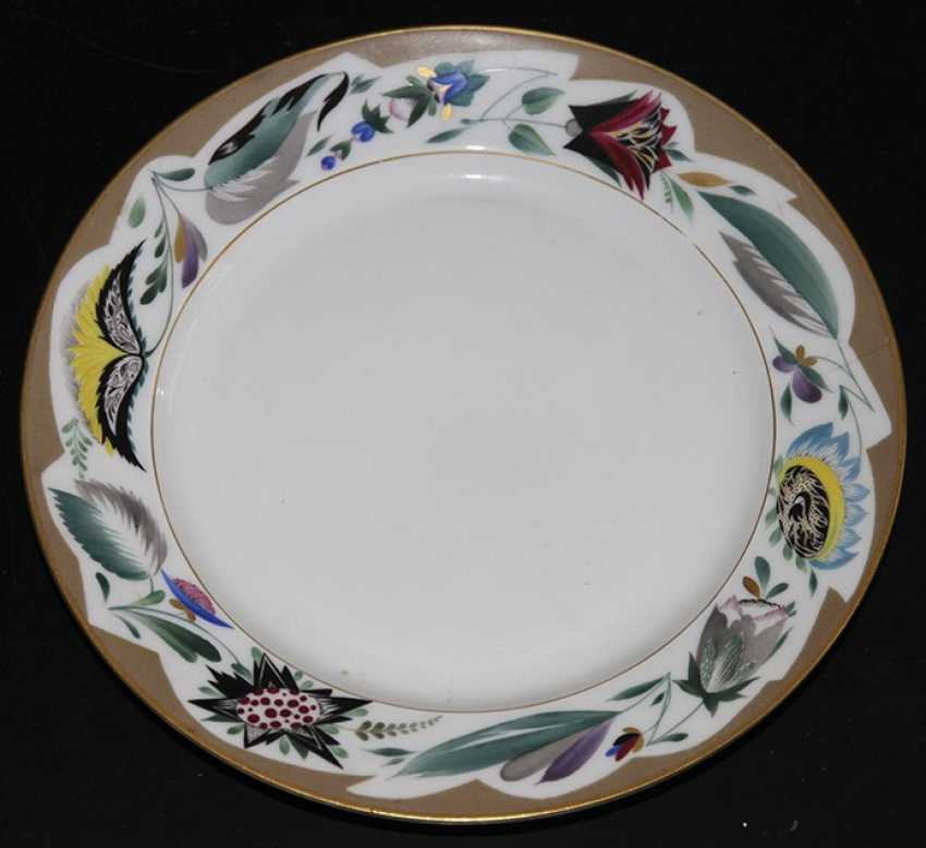 Plate with floral painting on Board. - photo 1