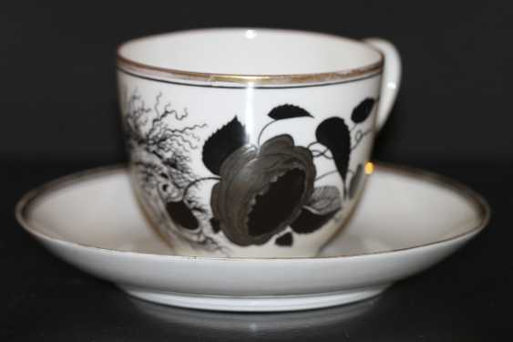 "Cup and saucer ""rose and the mask"" (Demon), S. Chekhonin - photo 1"