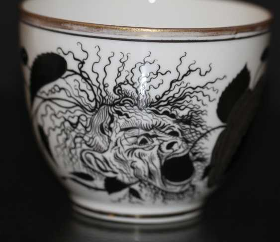 "Cup and saucer ""rose and the mask"" (Demon), S. Chekhonin - photo 2"