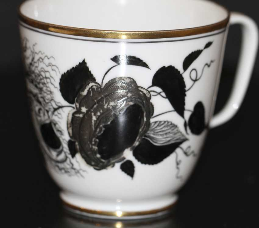 """Cup and saucer """"rose and the mask"""" (Demon), S. Chekhonin - photo 2"""
