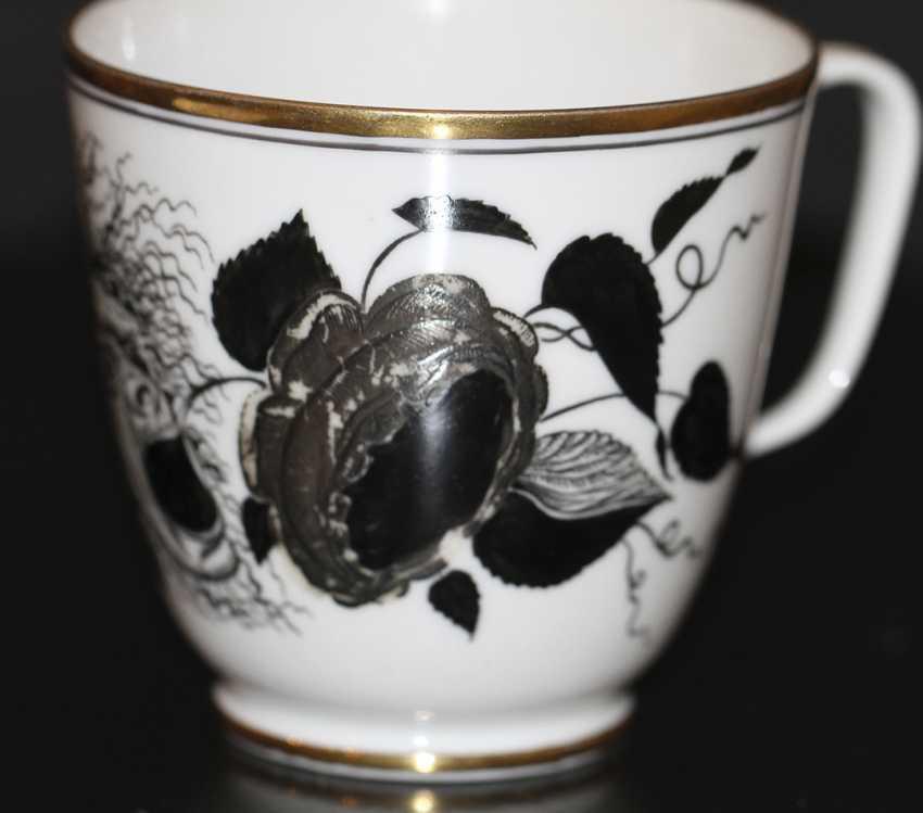 """Tasse avec soucoupe """"la Rose et le masque"""" (Démon), S. Чехонин - photo 2"""