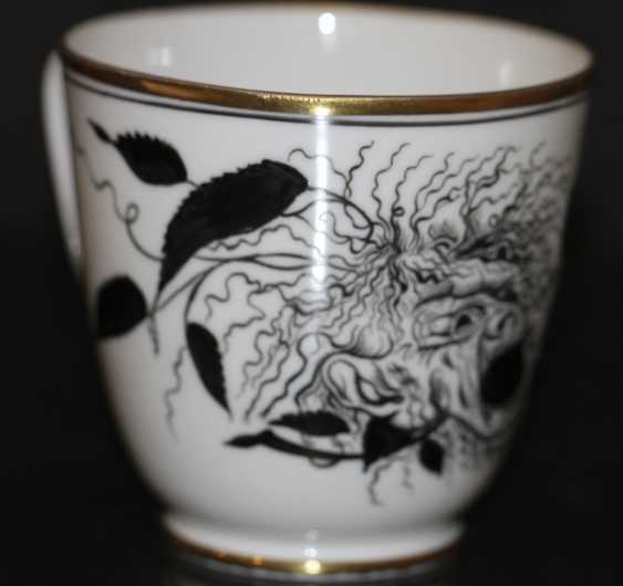 """Cup and saucer """"rose and the mask"""" (Demon), S. Chekhonin - photo 3"""