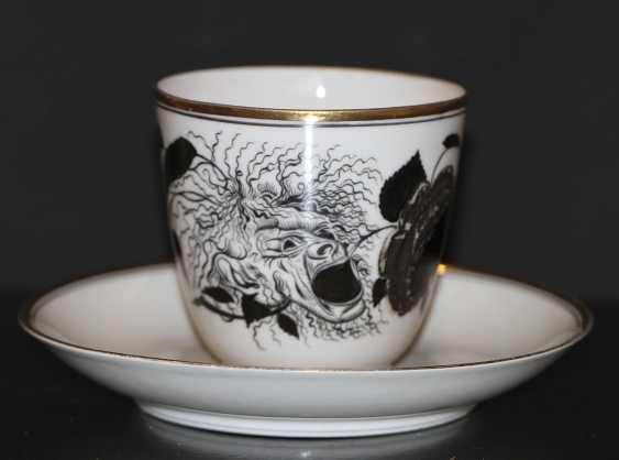 """Tasse avec soucoupe """"la Rose et le masque"""" (Démon), S. Чехонин - photo 1"""