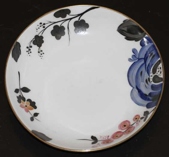 """Cup and saucer from the service of the """"Blue rose"""", 1937, S. Chekhonin - photo 2"""
