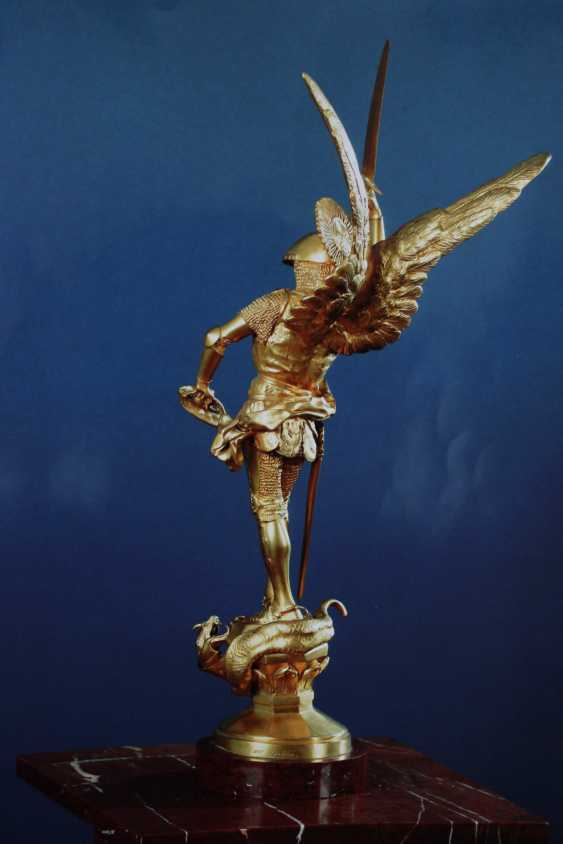 "The sculpture of ""St. Michael killing the dragon"", XIX century - photo 3"