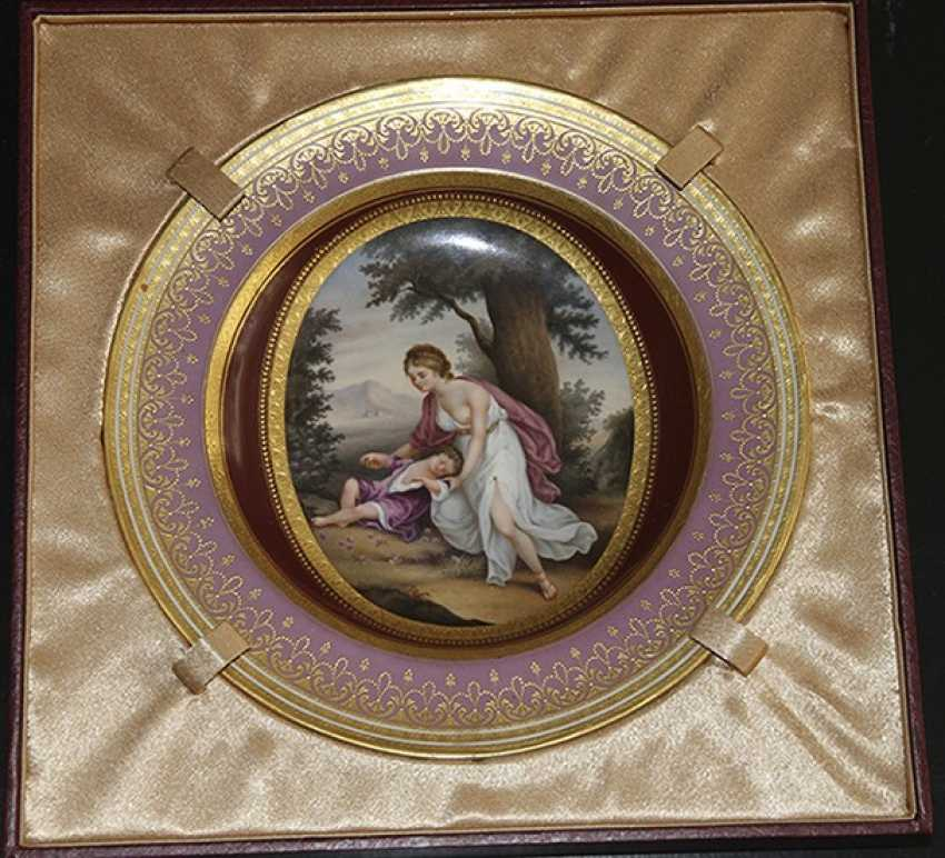 A plate of miniature, 1785, Royal Vienna manufactory - photo 1