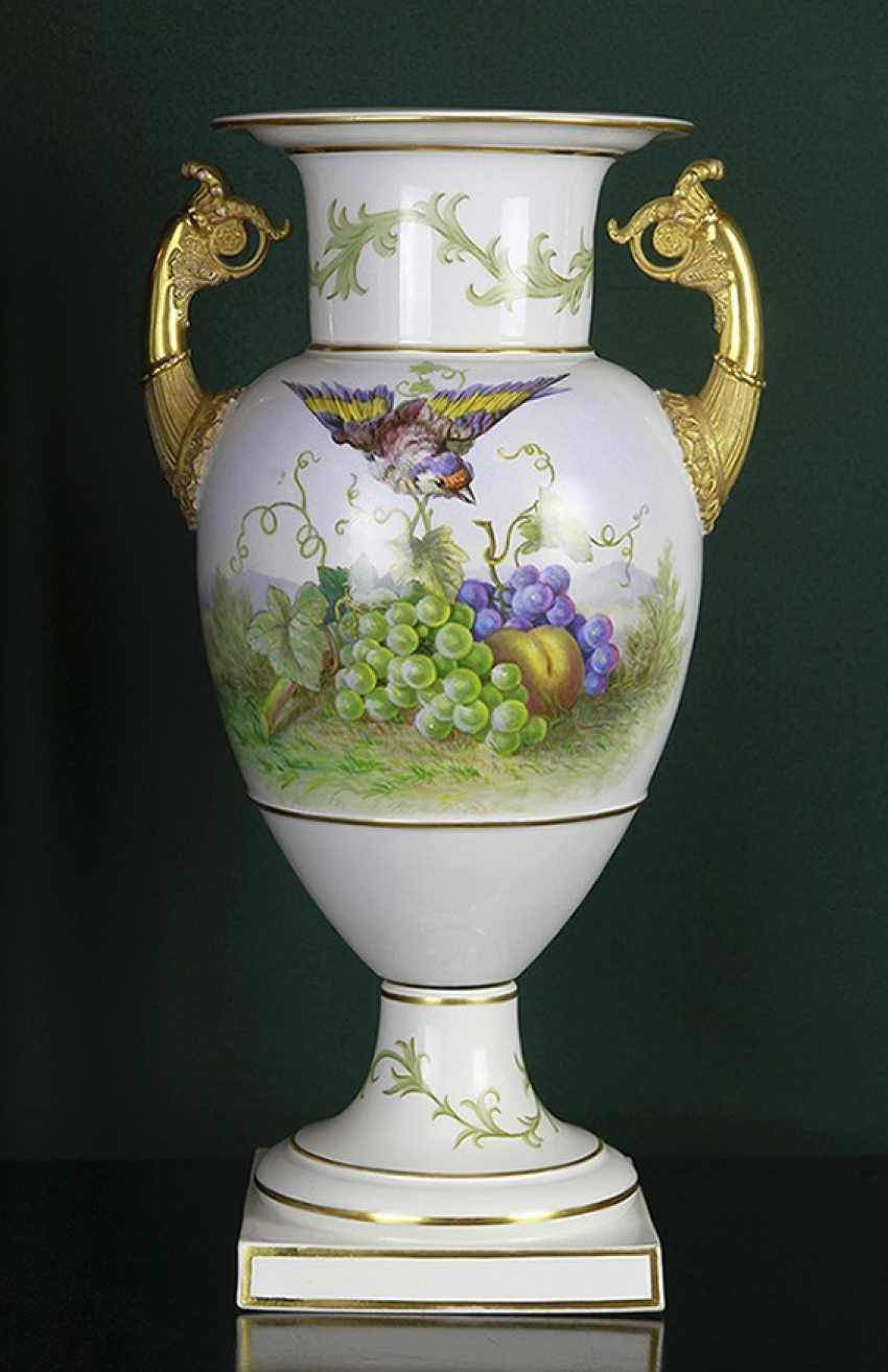 Vase with bird and fruit. KPM, the second half of the XIX century - photo 1