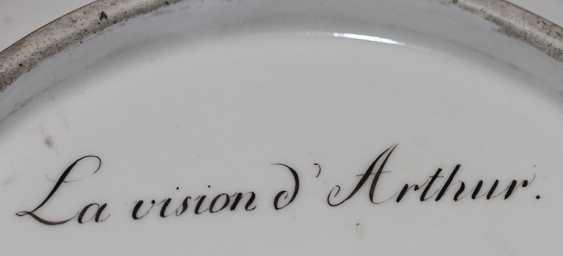 "Plate ""The Vision Of Arthur."" 1805, Royal Vienna manufactory - photo 4"