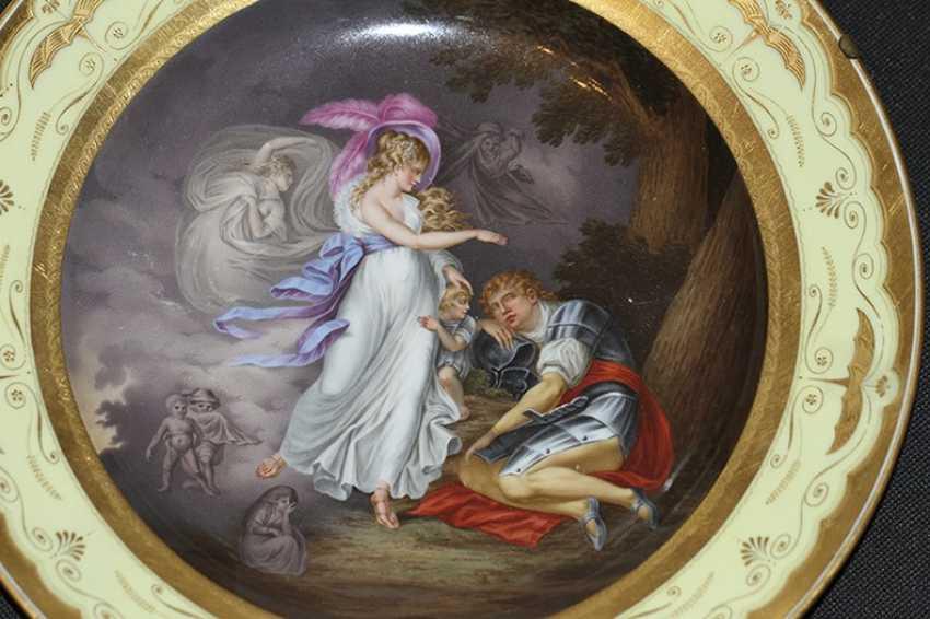 "Plate ""The Vision Of Arthur."" 1805, Royal Vienna manufactory - photo 2"