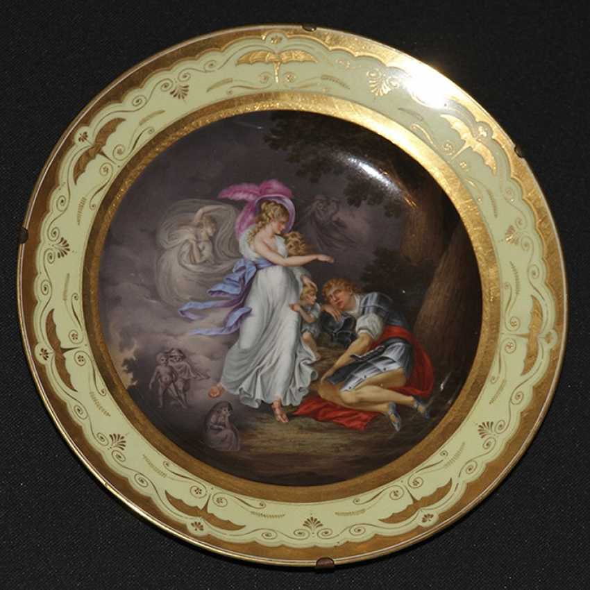 "Plate ""The Vision Of Arthur."" 1805, Royal Vienna manufactory - photo 1"