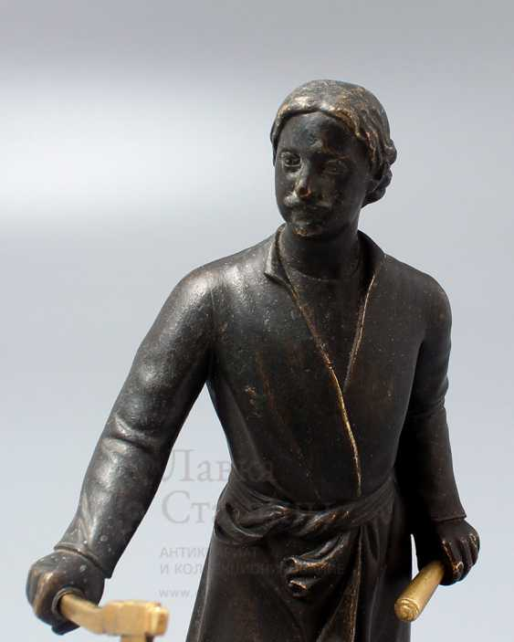 Antique bronze figurine on a marble stand Peter I, Russia, 19th century - photo 2