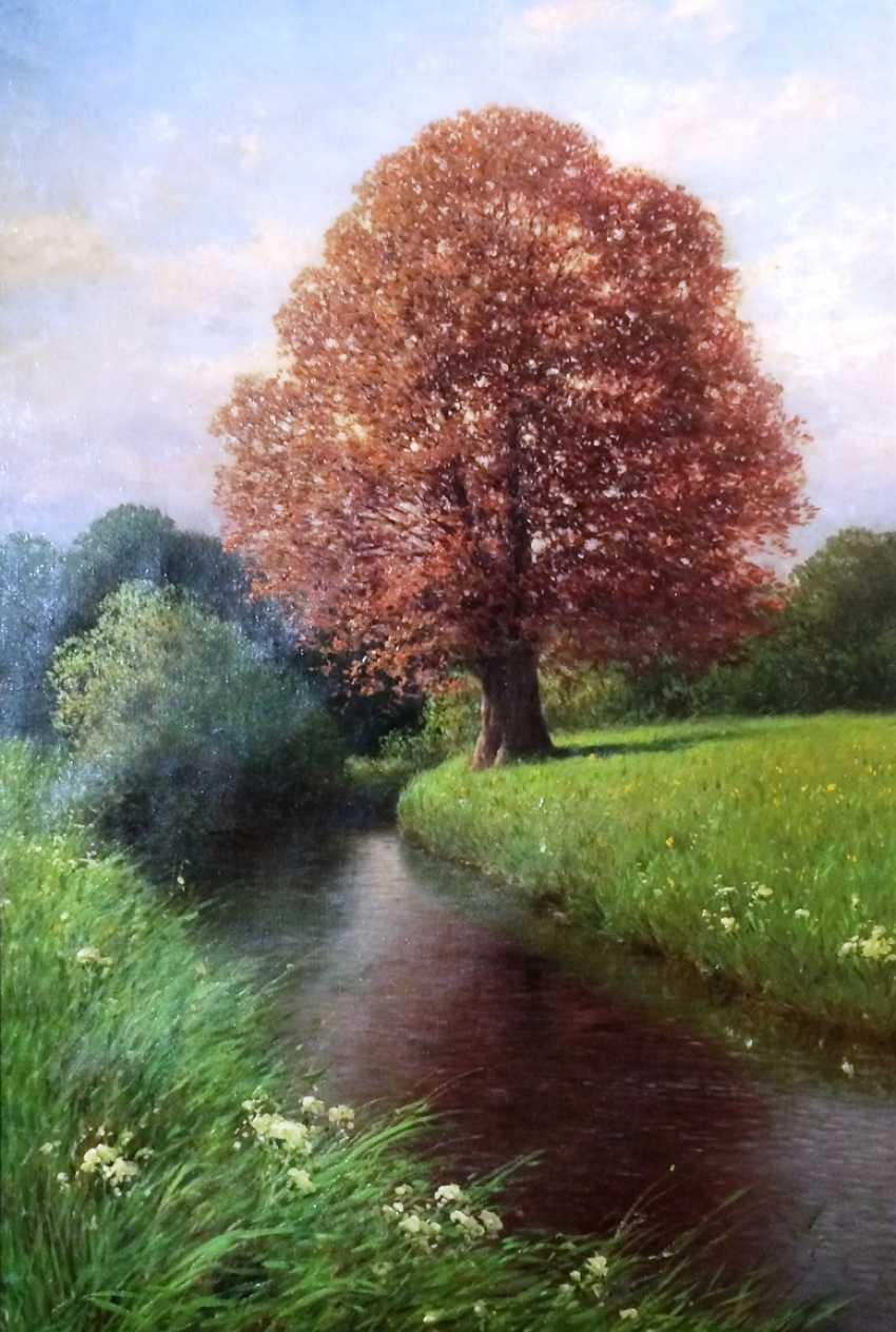 "The painting ""Oak by the river"". Kesler, Carl. Germany, 1917. - photo 1"